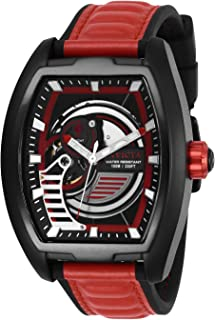 Invicta Men's Red/Black Dial Silicone Band Watch - IN-26889