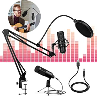 USB Studio Condenser Microphone for Computer Podcast...