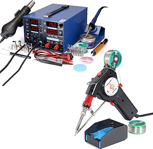 2021 YIHUA 853D 2A USB Bundled with lowest YIHUA sale 929D-I Auto-feed Soldering System online