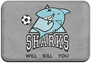 Sharks Will Kill You Cute Sharks Cool Personalized Door Mats Outdoor Doormats For Front Door