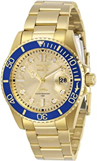 Invicta Women's Pro Diver Quartz Watch with Stainless Steel Strap, Gold, 20 (Model: 30485)