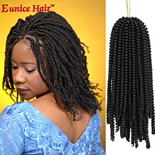 6 Packs Eunice Hair Spring Twist Crochet Braids Bouncy Curly Nubian Twist Hair Extensions 8 Inch Synthetic Kinky Curly (#4)