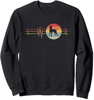Retro Heartbeat German Shorthaired Pointer Dog Lifeline  Sweatshirt