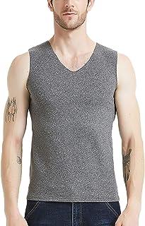 AIEOE Men Breathable Fit Thermal Underwear Elastic Lined Colorfast Vest