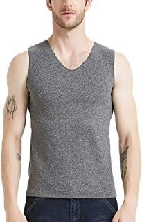 Men Breathable Fit Thermal Underwear Elastic Lined Colorfast Vest