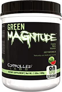Controlled Labs Green MAGnitude, Synergistic Creatine Formula, Promotes Strength, Stamina, and Performance, Helps Maintain...