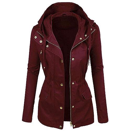 d6887543 Burgundy Women's Coat: Amazon.com