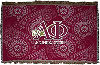 VictoryStore Blankets - Alpha Phi Paisley Woven Blanket