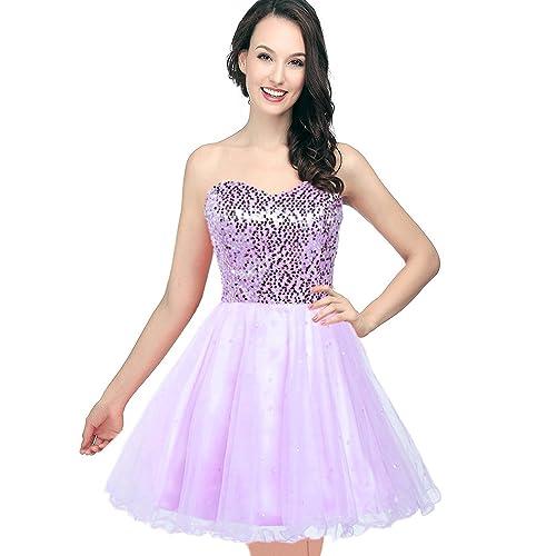 Short Purple Prom Dress: Amazon.com