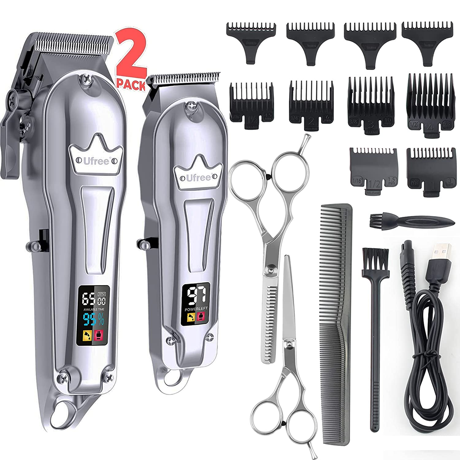 Ufree Hair Topics on TV Clippers for Men + Ranking TOP20 T-Blade Professional Trimmer Kit