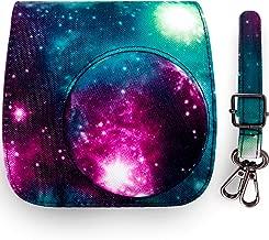Elvam Camera Case Bag Compatible for Fujifilm Mini 9 Mini 8 Instant Camera with Detachable Adjustable Strap – Galaxy