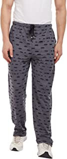 VIMAL Men's Cotton and Crush Torn Look Trackpant (Black, XXL)