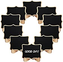 10PC Set of Mini Rectangular Vintage Blackboard Message Board with Stand Wedding Name Placements TRIXES