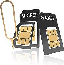 innoGadgets Sim Card Adapter - Nano Sim Card Tool | Complete Adapter Set for Nano-SIM to Micro-SIM to SIM | Includes SIM Opener Needle