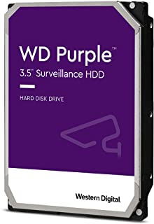 "Western Digital WD Purple 4TB 3.5"" Surveillance HDD 5400RPM 64MB SATA3 6Gb/s 150MB/s 180TBW 24x7 64 Cameras AV NVR DVR 1.5..."