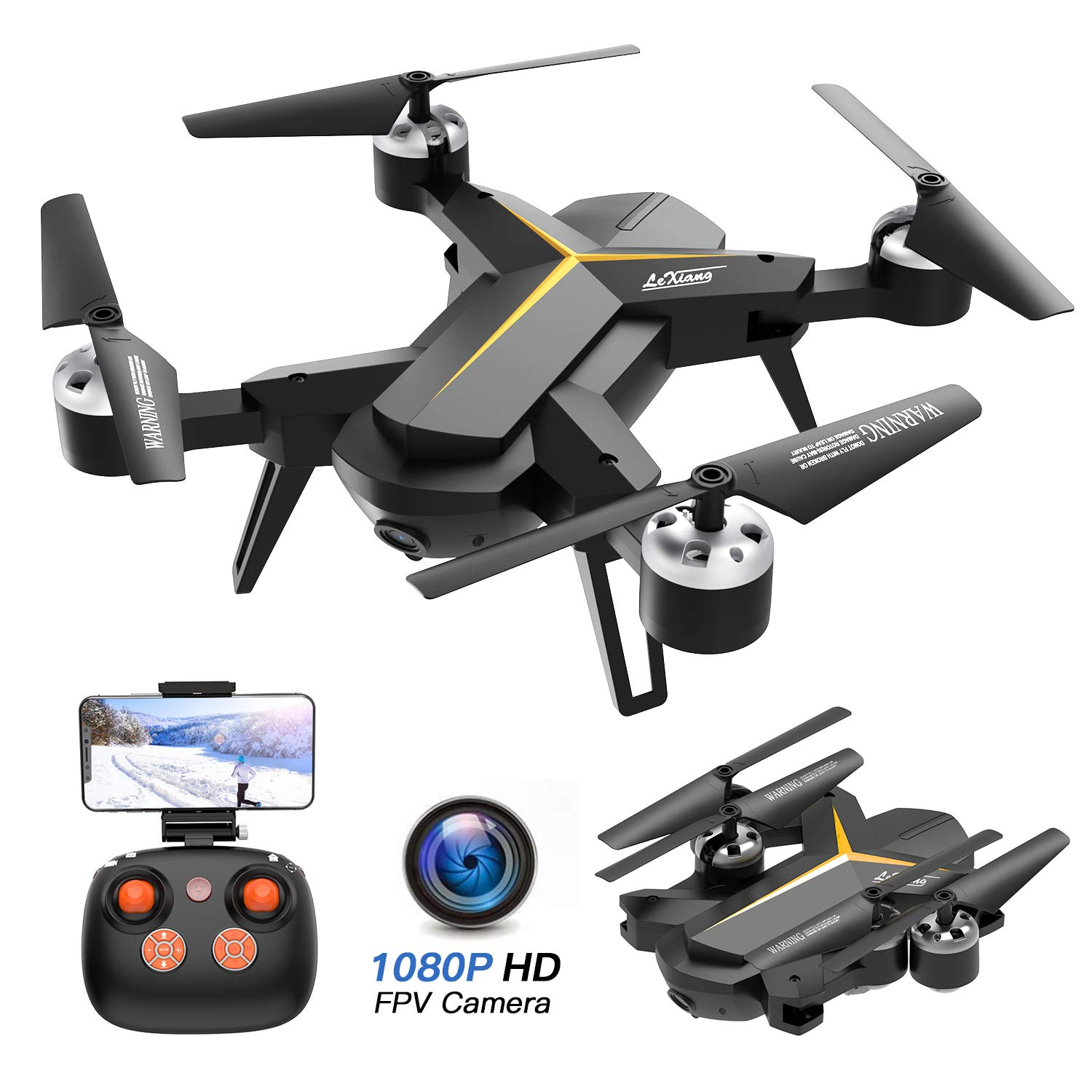Foldable Drone 1080P Camera Adults