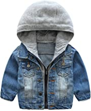 Abolai Baby Boys' Basic Denim Jacket Hoodie Button Down Jeans Jacket Top