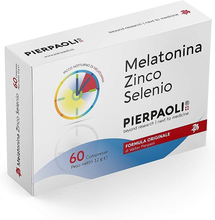pierpaoli melatonina zinco selenio -1mg, 60 compresse 970283952