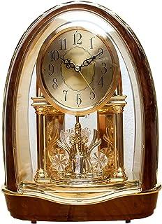 ساعة الطاولة ساعة الأمريكية الأوروبية غرفة المعيشة الكلاسيكية على مدار الساعة الصامتة الدورية الرجعية ساعة الكريستال الحلي