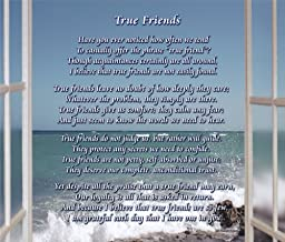 True Friends - Poem Print (8x10) - Beautiful Friend Gift for Any Occasion