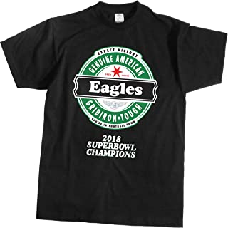 Football- Eagles Beer Shirt (2018 Super Bowl) Block Lettering - Sizes up to 4XL