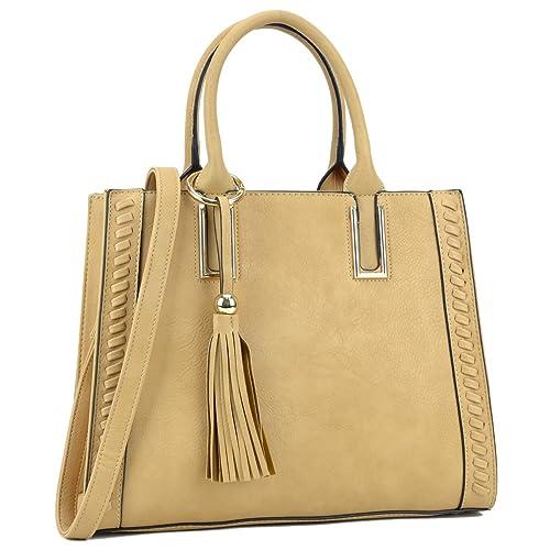 67c33632ef Dasein Designer Satchel Handbags Vegan Leather Purses Shoulder Bags for  Women with Shoulder Strap
