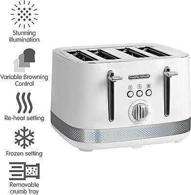 Morphy Richards 248021 Illumination 4 Slice Toaster, White