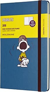 Moleskine Limited Edition Peanuts, 12 Month Weekly Planner, Large, Sapphire Blue (5 x 8.25)