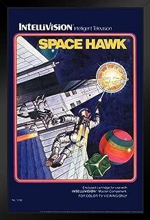 Space Hawk Intellivision Box Art Video Game Gaming Retro Black Wood Framed Art Poster 14x20