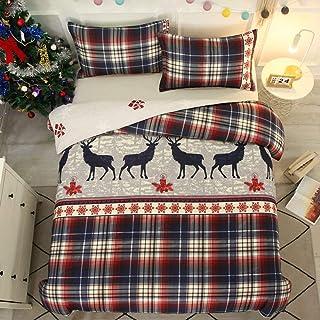 Dekbedovertrek 220x240,Kerst Beddengoed Sets Leuke Herten Gift Print Dekbedovertrek Chique Boho Slaapkamer Decor Omkeerbar...