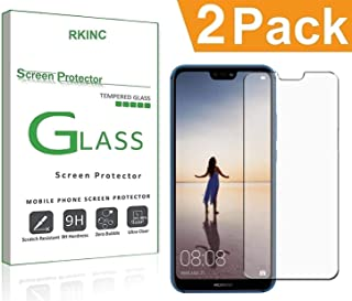 Bundle of 2, RKINC forHuawei Nova 3E/P20 LiteScreen Protector, Crystal Clear Tempered Glass Screen Protector [9H Hardness][2.5D Edge][0.33mm Thickness][Scratch Resist] forHuawei Nova 3E/P20 Lite