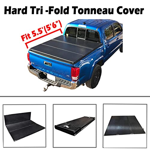Jj New   Hard Tri Fold Tonneau Cover Truck Bed For