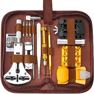 SOONAN Kit de réparation de Montre, 149pcs Ensemble d'outils de Barre de Ressort Professionnel,Outil de réparation Profess...