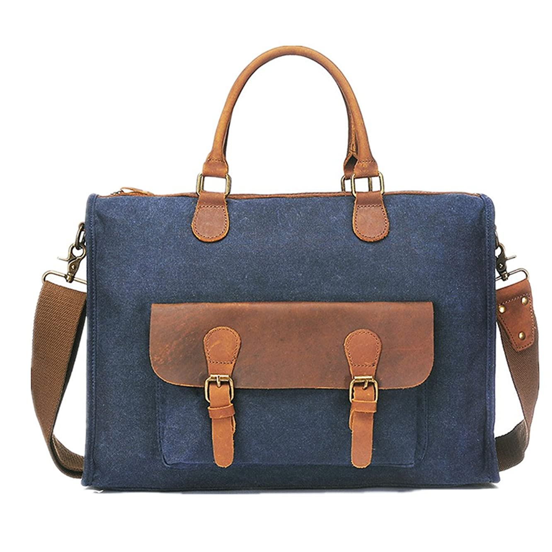 Xiejuanjuan Laptop and Tablet Bag Men's Briefcase Handbag Multi-Purpose Shoulder Messenger Bag Retro Bag Cross-Section Men's Bags Suitable for Business Casual