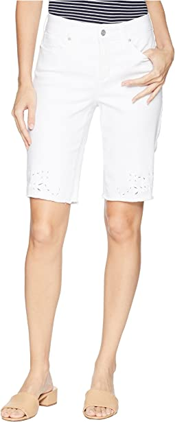 Briella Shorts w/ Eyelet Embroidery in Optic White