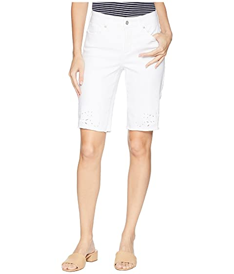 Briella Shorts w/ Eyelet Embroidery in Optic White (Optic White) Womens Shorts NYDJ Cheap Low Shipping Fee Ms3lxAbj