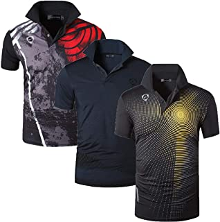 Men's 3 Packs Ourdoor Sport Quick Dry Polo T-Shirt Tee Tshirt Golf Tennis Bowling Fit LSL195