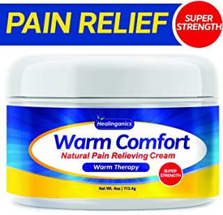 Warm Therapy Natural Pain Relieving Cream, 4 oz (Joint & Muscle Pain) Warming Pain Relief Gel for Backache, Muscle Strains and Sprains