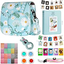 Cpano Instax Mini Camera Case Accessories Bundle  Compatible with Instax Mini Include Case Album Selfie Lens Filters Wall Hang Frames Film Frames Border Stickers  Daisy