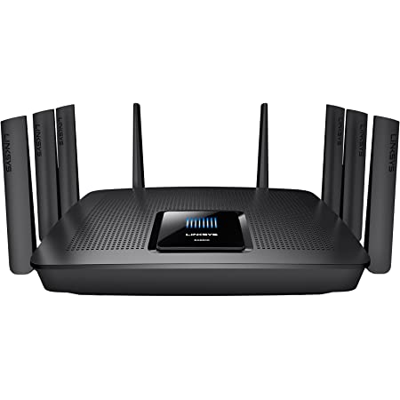 Linksys EA9500-EU - Router Gigabit MU-MIMO AC5400 (8 Antenas, CPU 1,4 GHz, Beamforming, 8xGigabit Ethernet, 1xUSB 3.0, Seguridad Avanzada, Acceso para ...