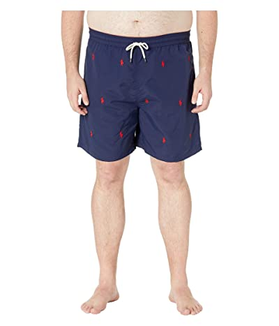 Polo Ralph Lauren Big & Tall Big Tall Traveler Swim Trunks (Newport Navy/Aoe) Men