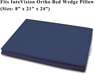InteVision 400 Thread Count, 100% Egyptian Cotton Bed Wedge Pillowcase. Designed to Fit The InteVision Ortho Bed Wedge Pillow (8