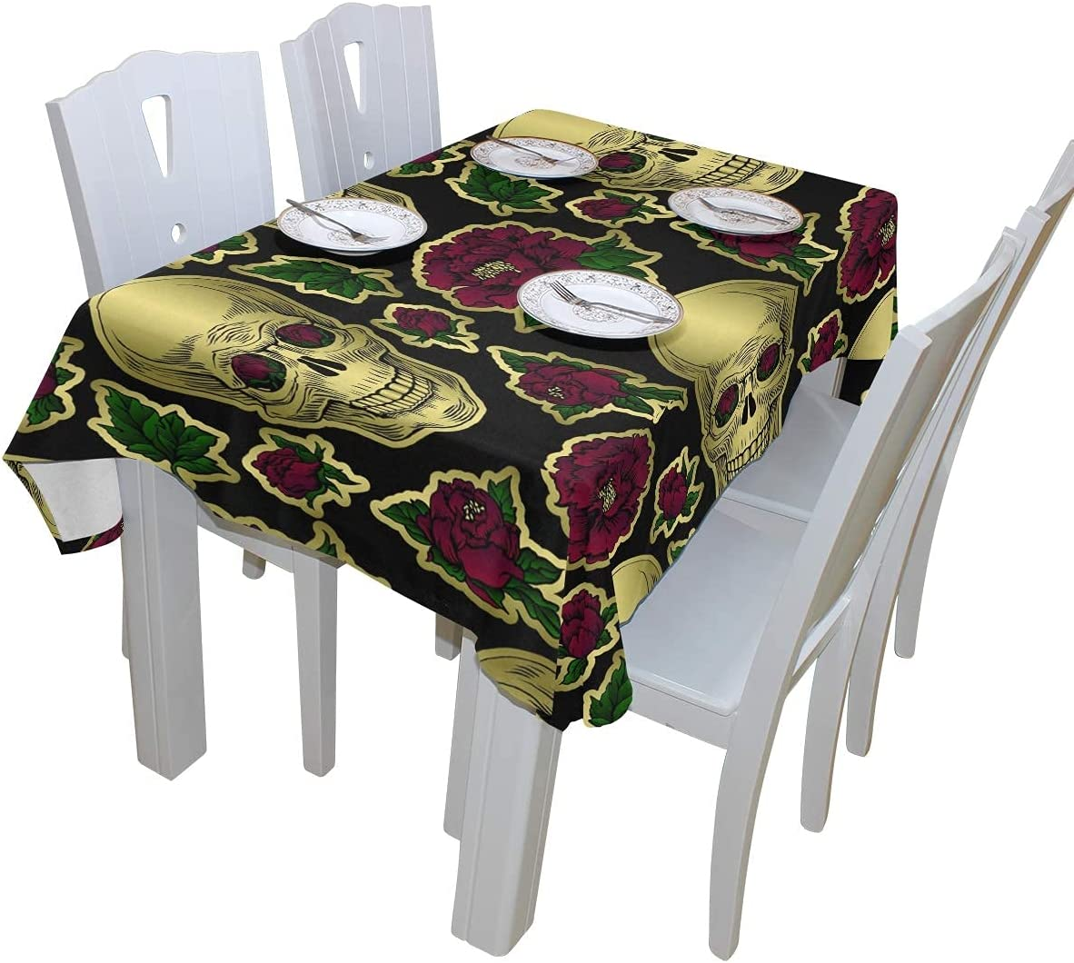 IKUI Halloween Sugar Cash special price Genuine Skull Red for Polyester Tablecloth Flowers