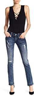 Womens Alivia Straight Jeans Denim Pant