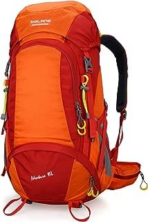 JITALFASH 40L Climbing Bag Waterproof Travel Camping Sport Men Hiking Outdoor Backpack with Rain Cover Orange