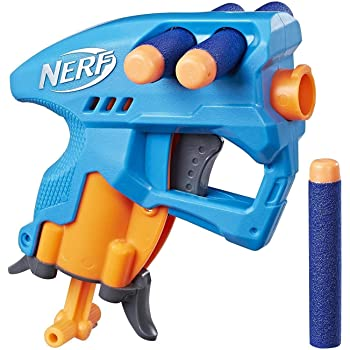 Nerf NanoFire Blaster, Blue Single-Shot Blaster with Dart Storage, Includes 3 Elite Darts, For Kids Ages 8 and up