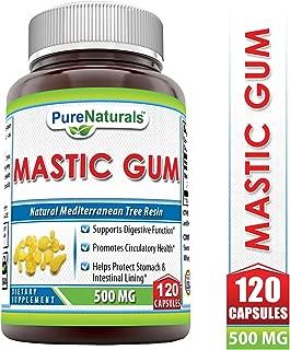 Pure Naturals Mastic Gum 500 Mg 120 Capsules