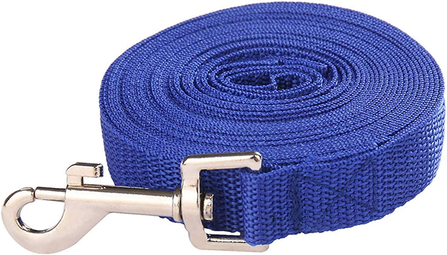 PETFDH Dog Leash for Medium Large Dogs Pet Puppy Cat Walking Training Lead Rope Big Dog Nylon Rope Long Leashes 6M 10M 15M 20M 30M 50M bluee 50 m x 2.0 cm