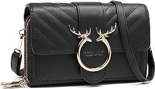 Handy Umhängetasche,Kleine Crossbody Tasche Handy Damen, Geldbörse PU Handtaschen Brieftasche mit Kartenfächer Verstellbar...