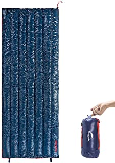 Naturehike アップデート版 ダウン寝袋 封筒型 超軽量 封筒白いガチョウダウン採用 4シーズン 防水 シュラフ キャンプ登山防災災害 車中泊2つ寝袋連結可能 圧縮袋+メッシュ収納袋付